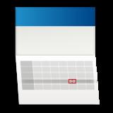 kalendarz jednodzielny z wypukła główką