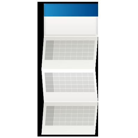 Kalendarz trójdzielny z wypukłą główką