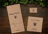 Rustykalne Zaproszenia i winietki ślubne na papierze EKO